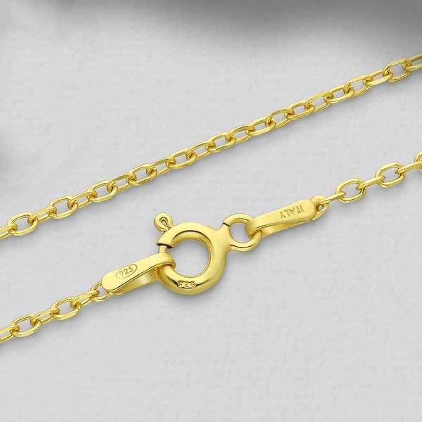 Bilde av Gullbelagt Sølvkjede - Kabeldesign 1.5 mm