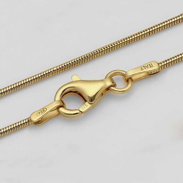 Bilde av Gullbelagt Sølvkjede - Slange 1 mm