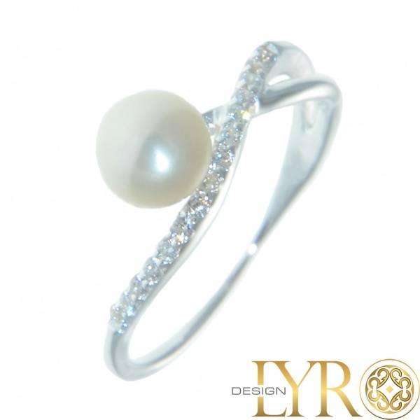 Bilde av Odette - Sølvring med Perle & Cubic Zirconia