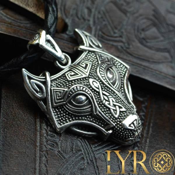 Bilde av Keltisk Ulvehode - Sølv