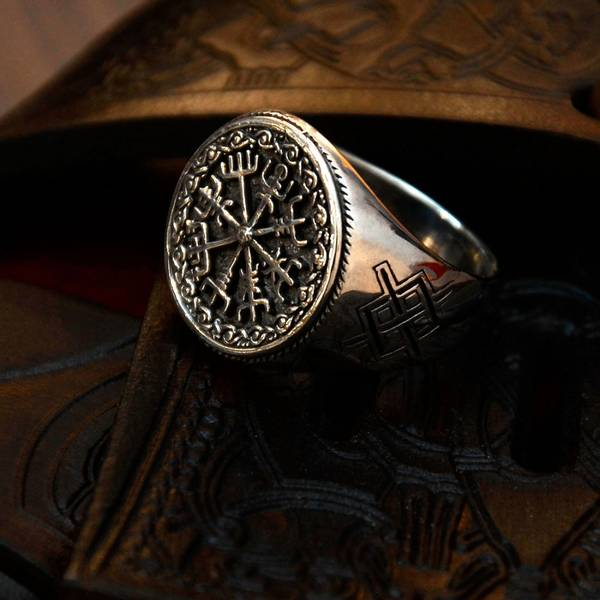 Bilde av Vegvisir - Sølvring